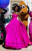 Tarik Ediz 50646 Fuchsia Front Dress