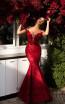 Tarik Ediz 93724 Red Front Dress