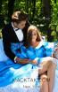 Tarik Ediz 50298 Prom Dirty Blue Front Dress