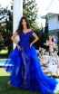 Tarik Ediz 50410 Prom Royal Blue Front Dress