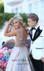 Tarik Ediz 50432 Gold Back Prom Dress