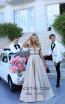 Tarik Ediz 50432 Gold Front Prom Dress