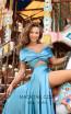 Tarik Ediz 50447 Turquoise Front Prom Dress