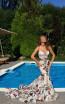 Tarik Ediz 50467 Ivory Front Prom Dress