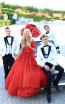 Tarik Ediz 50511 Red Front Prom Dress