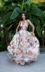 Tarik Ediz 50534 Ivory Front Prom Dress