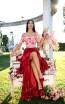 Tarik Ediz 50546 Red Front Prom Dress