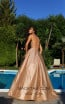 Tarik Ediz 50549 Gold Back Prom Dress