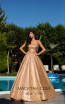 Tarik Ediz 50549 Gold Front Prom Dress