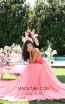Tarik Ediz 50555 Pink Front Prom Dress