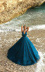 Tarik Ediz 93617 Turquoise Prom Dress
