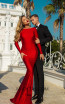 Tarik Ediz 50756 Red Front Dress