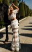 Tarik Ediz 50765 Ivory Back Dress
