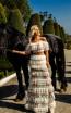 Tarik Ediz 50765 Ivory Front Dress