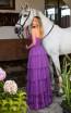 Tarik Ediz 50768 Purple Back Dress