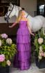Tarik Ediz 50768 Purple Front Dress