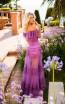 Tarik Ediz 50777 Purple Back Dress