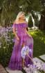 Tarik Ediz 50777 Purple Front Dress