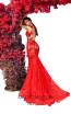 Tarik Ediz 93600 Red Back Dress
