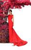 Tarik Ediz 93600 Red Front Dress