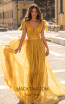 Tarik Ediz 93897 Yellow Front Dress