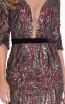 Terani 1821C7012 Wine Black Front Cocktail Dress