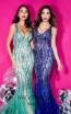 Terani Couture 1912GL9573 Royal Jade Front Dress