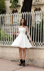 TK AS148 White Front Evening Dress
