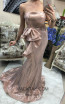 TK DA010 Rose Front Evening Dress
