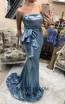 TK DA010 Royal Blue Front Evening Dress