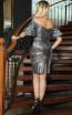 TK DA022 Gray Back Dress