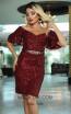 TK DA022 Wine Front Dress