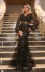 TK DA023 Black Gold Front Dress