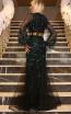 TK DA023 Black Green Back Dress