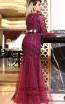 TK DA023 Fuchsia Back Dress