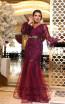 TK DA023 Fuchsia Front Dress