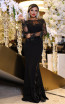 TK DA025 Black Front Evening Dress