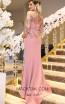 TK DA025 Pink Back Evening Dress