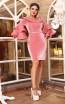 TK DA026 Pink Front Evening Dress